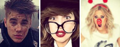 Celebrities post their mugshots on Twitter