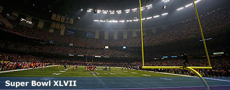 Eerie photos from Super Bowl blackout