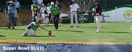 Top golfer kicks football for first time ever