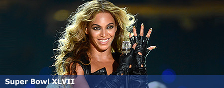 Beyoncé's leather-and-lace Super Bowl look