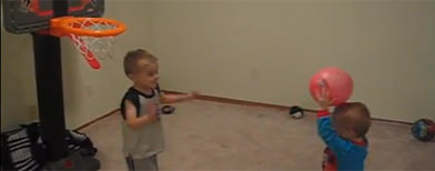 Toddler has amazing shooting skills