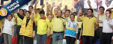 Riot of colors in Team PNoy rally