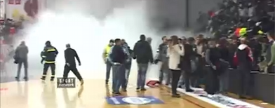 Basketball game turns violent in Serbia