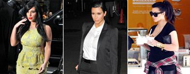 Kim Kardashian shows off Kanye's baby