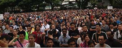 Huge protest at Speakers' Corner