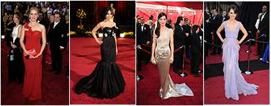 Glitz and glamour from Oscar designers