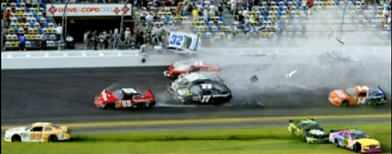 Dozens hurt in Daytona Speedway crash
