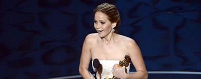 Jennifer Lawrence wins best actress