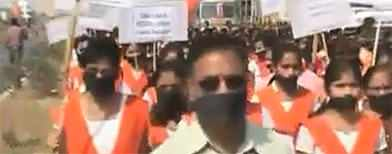 Indians protest over triple rape case