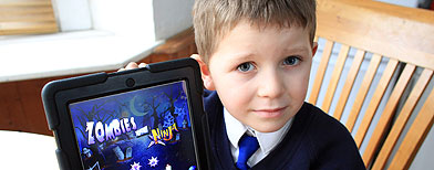 iPad bill boy promises 'not to do it again'