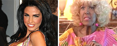 Katie Price compared to wrinkled old lady