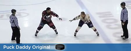 Hockey 'fight' takes unexpected turn