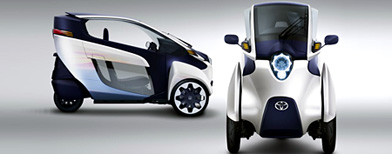Now, a three-wheeled car from Toyota