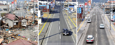 Before and after:  Japan tsunami 2 years on