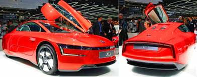 Volkswagen XL1: 111 kms on 1 litre diesel