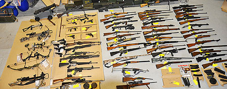 Ex-Mountie charged after weapons cache seized