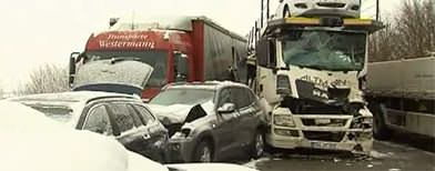 Massive pile-up on German highway