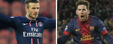 Beckham and co to take on Barca
