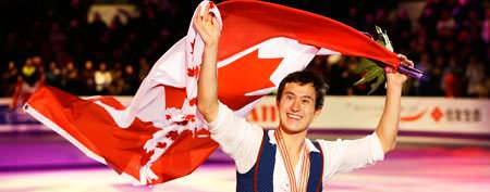 Chan takes third straight world figure skating gold