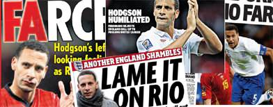 Hodgson 'humiliated' by Ferdinand farce