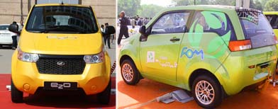 Mahindra launches e2o at Rs 5.96 lakh