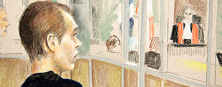 Luka Magnotta collapses during court hearing