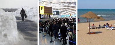 'Sunseekers to flee sub-zero UK'