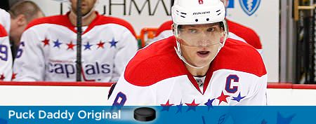 'Maybe you just forget to flush me,' Ovechkin says