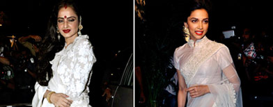 Who wore it better: White saree face-off