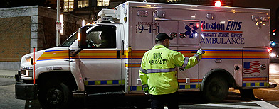 Boston suspect hospitalised after gunfight