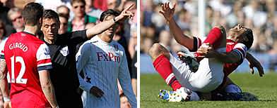 Controversy erupts as Arsenal beat Fulham