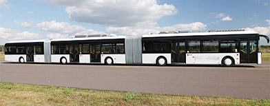 World's largest bus carries 256 passengers