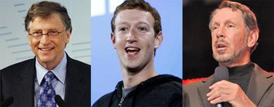 The world's 10 richest tech billionaires