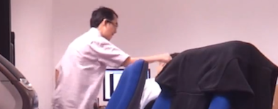 Video of man hitting office worker goes viral (Screengrab from YouTube video)