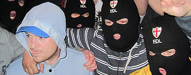 English Defence League supporters