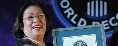 """I never knew that at the age of 61, I'll be Guinness record holder,"" Georgina Gil-Lacuna says."