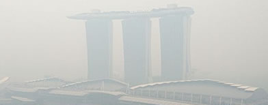Haze reaches 'unhealthy' levels in Singapore. (Photo by Instagram user hema_r)
