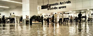 Photos: New Delhi airport flooded