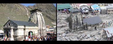 Photos: Kedarnath temple - Before and after