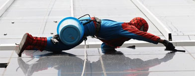 Spider-Man put to work in Indonesia