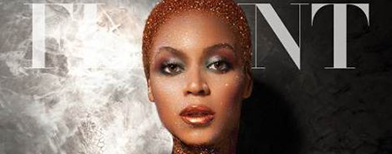 Beyonce stuns with nothing but glitters on