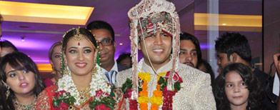 Shweta Tiwari's colourful wedding