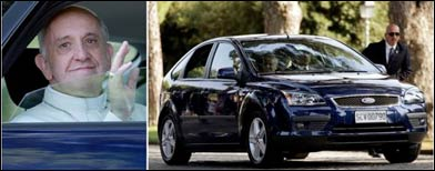 New Popemobile: A 5-year-old Ford Focus