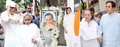 Bollywood veterans at Pran's prayer meet