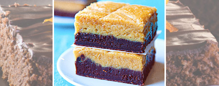 Make peanut butter cheesecake brownie