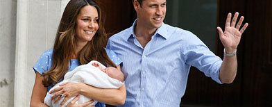 Royal baby makes first public appearance