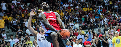 LeBron wows 'em at the MOA Arena
