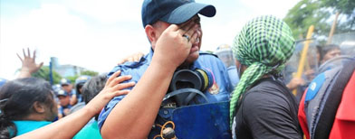 Why this policeman is crying