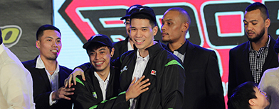 Scenes from the 2013 PBA Rookie Draft, Slaughter and Ginebra, Romeo