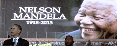 World leaders celebrate Mandela. Photo: AFP